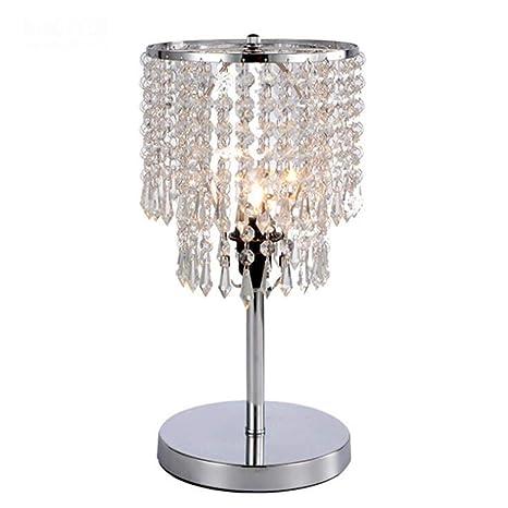 AMY Lámpara de Cristal, Mesa de Noche, lámpara de Mesa de ...