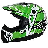 Zox ZRJC-GRS Rush Junior Code-Youth Street Motocross Dirt Motorcycle Helmet