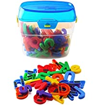 "EduKid Toys 72 Magnetic Letters & Numbers (Canister) 1.25"" - 1.75"""