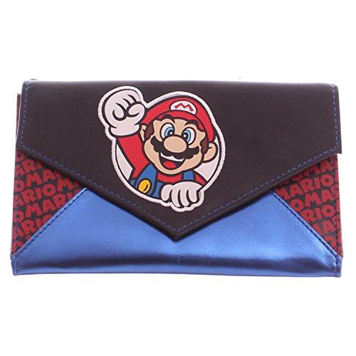 Nintendo Super Mario Blue & Black Envelope Chain Wallet
