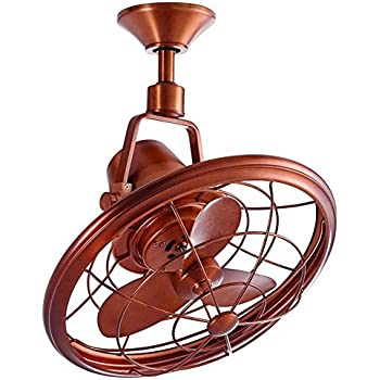 this item home decorators collection bentley ii 18 in weathered copper oscillating ceiling fan - Home Decorator Items