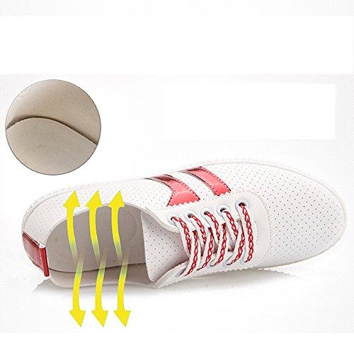 Zapatos Dos Para Respirable Nan 01 de Verano Moda de de Zapatos Colores Elegir mujer Blancos frvqf4