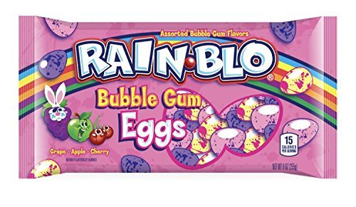 (Rain-Blo Bubble Gum Eggs Easter Candy)
