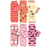 Bowbear Baby & Toddler Girls Set of 6 Assorted Leg Warmers, GS01