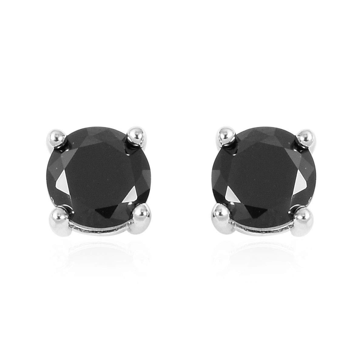 White Silvertone Round Cubic Zirconia CZ Earrings Bracelet Jewelry Set for Women 8 Cttw 12.7