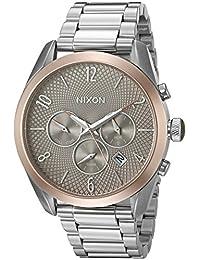 Nixon Women's A3662215-00 Bullet Chrono Analog Display Japanese Quartz Silver Watch
