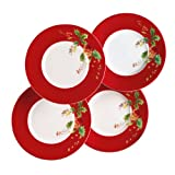 Lenox Winter Song Dessert Plates, Set of 4