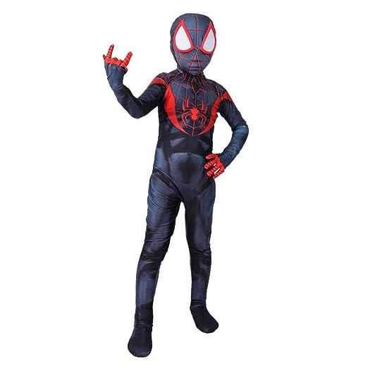 FHTD Spiderman Niños Cosplay Traje Miles Morales Spiderman ...