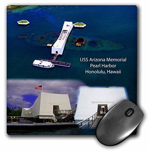Arizona Memorial Honolulu - 3dRose LLC LLC 8 x 8 x 0.25 Inches Mouse Pad, USS Arizona Memorial Views in Pearl Harbor, Honolulu (mp_107068_1)