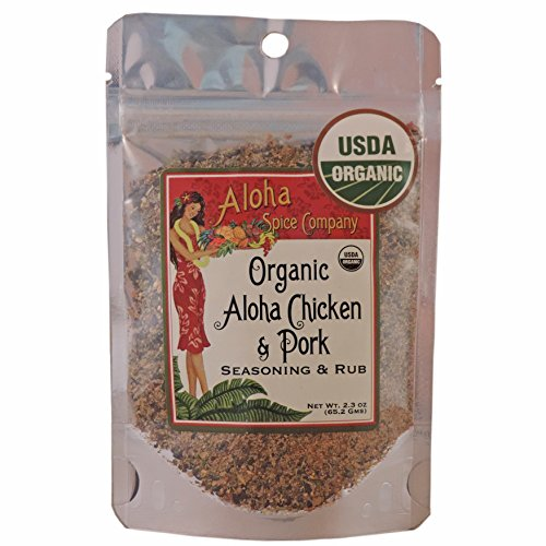 Organic Aloha Chicken & Pork Seasoning & Rub (4 Pack) by Aloha Spice Company