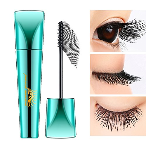 (Extend Mascara Extra Long Lash 4D Mascara Waterproof Fiber Mascara Liquid Lash Lengthening Peacock Mascara Thick Eyelash Extensions Long Lasting with 360 Degrees Spiral Brush (1 PCS))