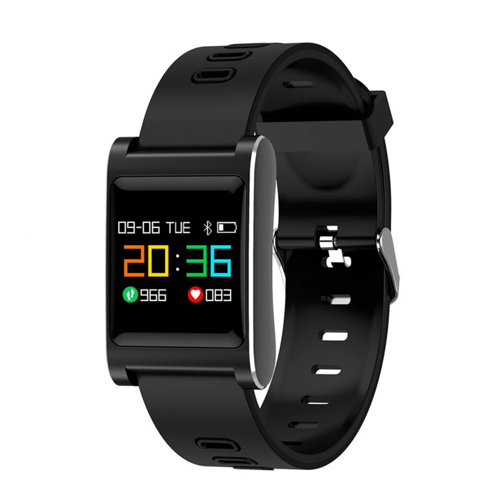 osierr6 Activity Tracker Smart Watch, IP68 Waterproof Fitness Tracker Watch with Heart Rate Monitor Step Counter Watch Stopwatch with Connected GPS Relax, Bluetooth Pedometer for Android iOS(Black)