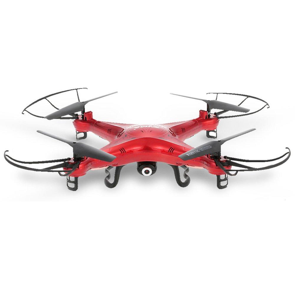 Syma X5C 2.4GHz 4CH 6 assi telecomando RC Quadcopter con 2.0 MP fotocamera HD, rosso