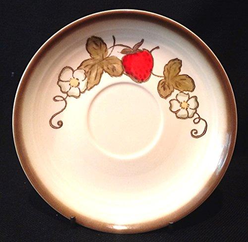 Poppytrail Strawberry Metlox Saucer, Metlox Strawberry 6 inch Saucer, Metlox Poppytrail Saucer