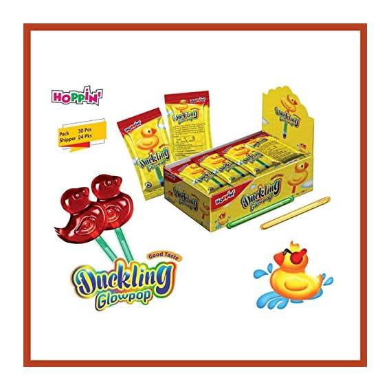 Hoppin Fruit Cocktail Flavour Duckling Glow pop Lollipop (Pack of 30)