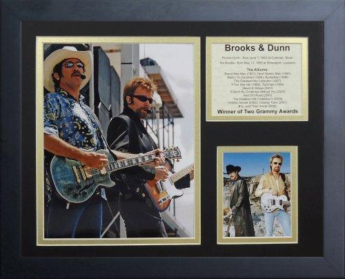 """Legenden Sterben Nie """"Brooks und Dunn"""" gerahmtes Foto Collage, 11 x 35,6 cm von Legends Never Die"""