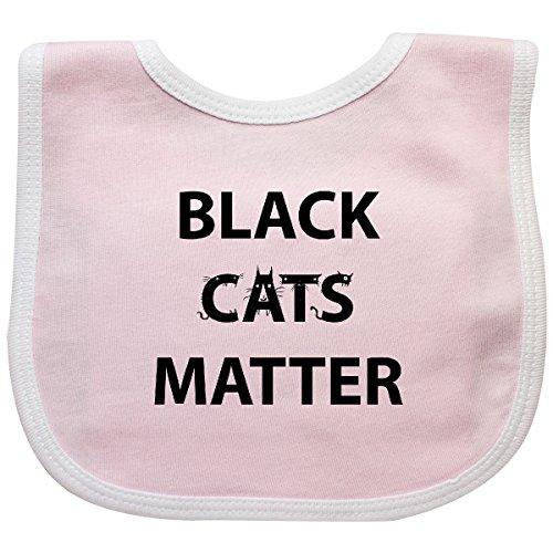 - Inktastic - Black Cats Matter Baby Bib Pink/White - Gus Fink Studios 2f283