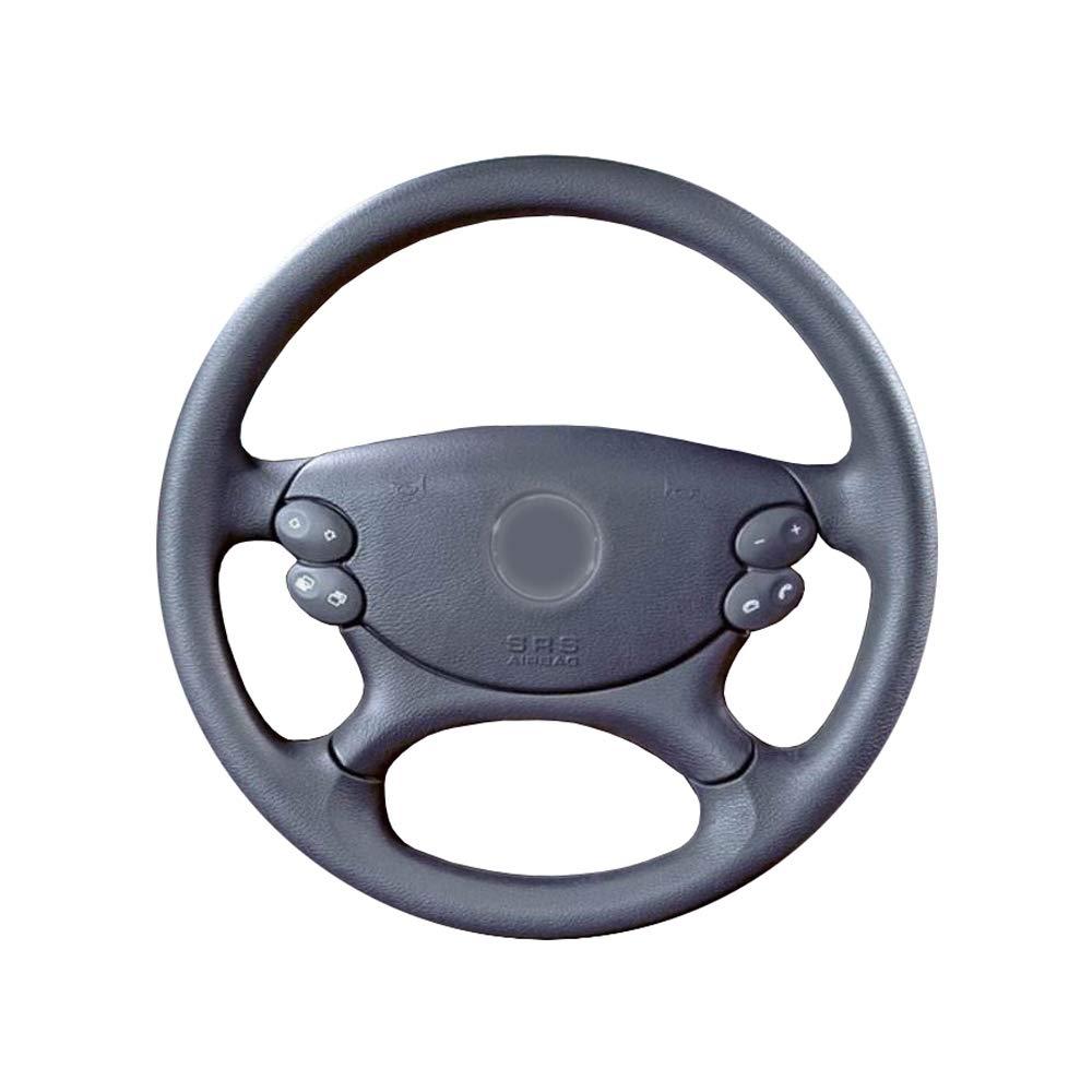 KDKDKLMB Cubierta del Volante Cubierta del Volante del Coche de Cuero Artificial Negro para Mercedes Benz CLS350 CLS500 CLS-Class E-Class W211 E230 E280 E350-Rosca Blanca