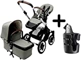 Bugaboo Buffalo Escape Complete Stroller 2015, Balsam Green + Bugaboo Cup Holder For Sale