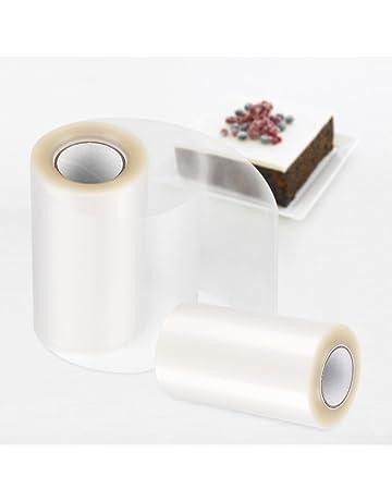 Bobina de acetato transparente rollo Decoración para alimentos, tartas, repostería 8/10 cm
