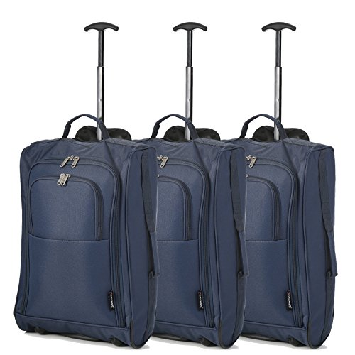Trolley Tres Equipaje Set De Mano Marino Iberia Para Maletas Azul Viaje vueling Cabina Volotea Bolsas npqwYqAS