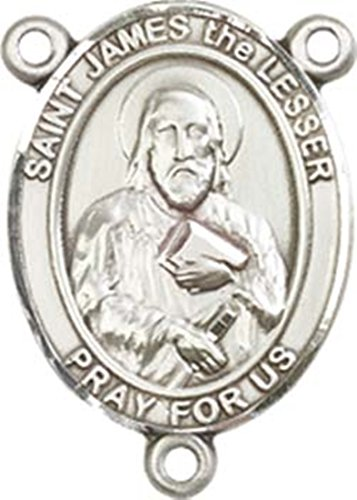 Sterling Silver Saint James the Lesser Rosary Centerpiece Medal, 3/4 ()