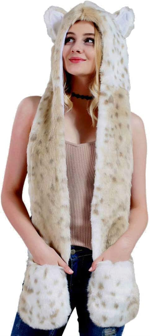 Head snow leapord sweater knit zip up vest women/'s multiple sizes