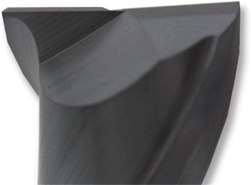 2 Flutes HRC55 CNC Keyway Milling Cutters 4Mm 6Mm 8Mm 10Mm Straight Shank Solid Carbide Cutting Tools Foe Wood End Mills 2F55C-8X100 2f55c- 16x100