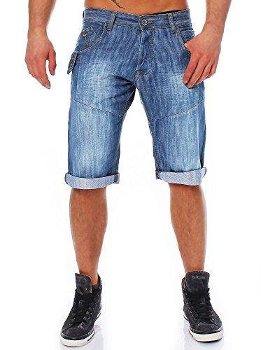 CrossHatch - Pantalón corto - para hombre Bleach Wash
