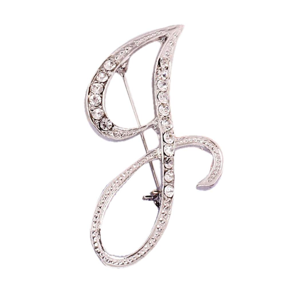 Usstore  English Letters Diamond Brooch Pin Crystal Couple Memorial Jewelry Love Gifts Birthday Present Clothes Decor