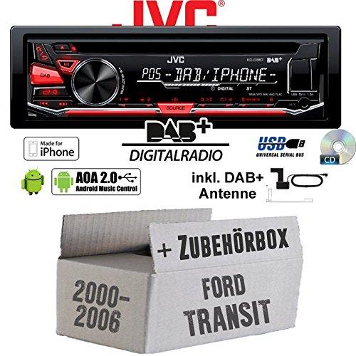 JVC KD-DB67 DAB+ Digitalradio Antenne JUST SOUND best choice for caraudio Einbauset f/ür Ford Transit DAB+ USB Autoradio inkl