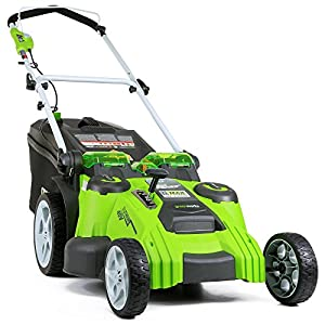 GreenWorks G-MAX Mower, 40V 4 AH Li-Ion Battery and Charger Inc by Sunrise Global Marketing, LLC