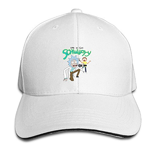 wholesale dealer 15946 9df85 Amazon.com  101dog Morty It s Time To Get Schwifty Rick Unisex Adjustable  Sandwich Bill Cap Natural  Clothing