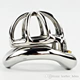 Teriya 2017 NEW Male Chastity Devices 25mm Cage Stainless Steel Super Small 1'' Short Cock Cage For Men Arc Base Ring(1pc)