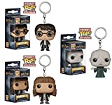 Funko Pocket POP! Harry Potter + Hermione Granger + Voldemort - Vinyl Figure Keychain Set NEW