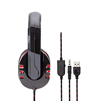 ICVDSRG Sy733Mv Light Gaming Gaming Computer Headset Headset Headset Ps4 Dedicated,Red