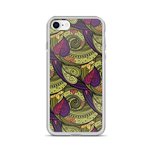 iPhone 7/8 Pure Clear Case Cases Cover Patterns Doodles Twirled Leaves ()