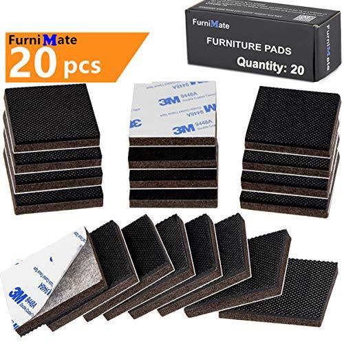 FurniMate Non Slip Furniture Pads 20 Pieces 2