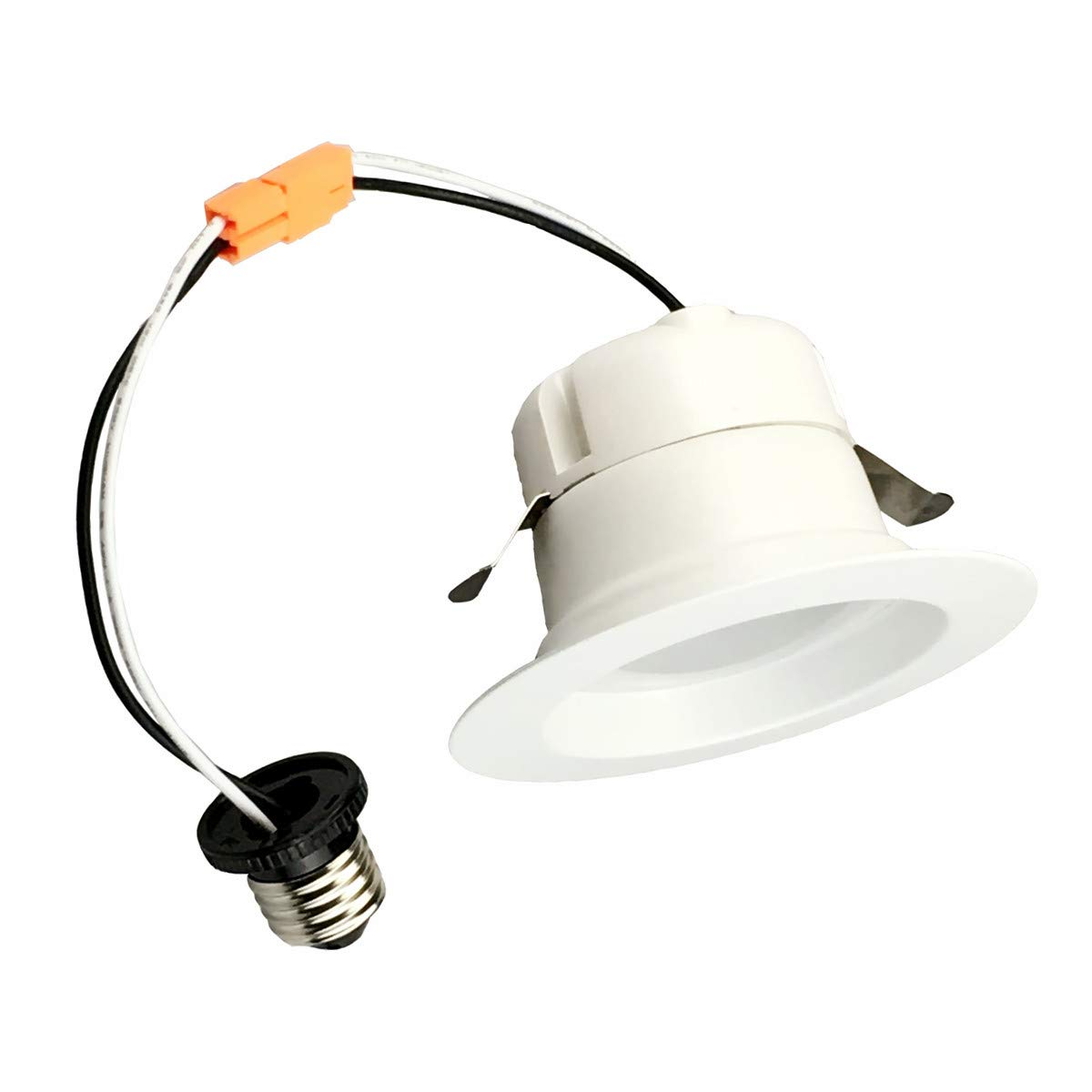 NICKLED 4 Inch 3 Colors in 1 Recessed LED Downlight Retrofit Kits Switch 3 Colors Optionally 3000K(Soft White), 4000K(Bright White), 5000K(Day Light) Dimmable 10W (50W Equiv.) 5 Years Warranty