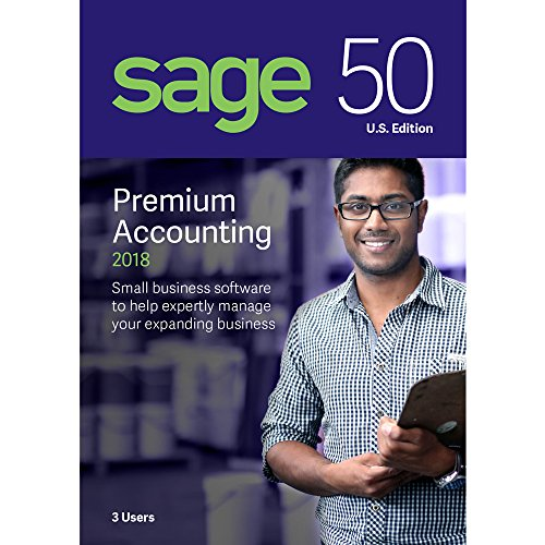Sage Software Sage 50 Premium Accounting 2018 U.S. 3-User (3-Users)