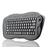 TeKit Wireless 2.4G Keyboard With Trackball (QWERTY, Internet + Media Hotkeys, PC + Mac)