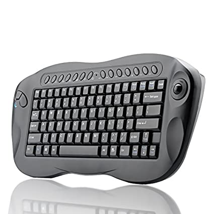 7b9cce176db Image Unavailable. Image not available for. Color: BW Computer Remote  Control - Mini Wireless Keyboard with Trackball ...