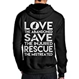Dog Rescue Animal Cat Rescue Men's Pullover Hoodie Active Jersey,Back Print