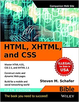 Buy HTML, XHTML and CSS Bible Book Online at Low Prices in India