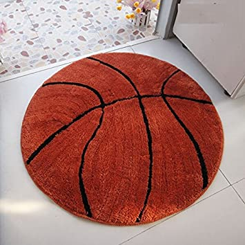 KINIFE Brown Basketball Pattern Rugs Bath Mat Bath Mat Carpet Indoor Carpet  Living Room Carpet Bedroom
