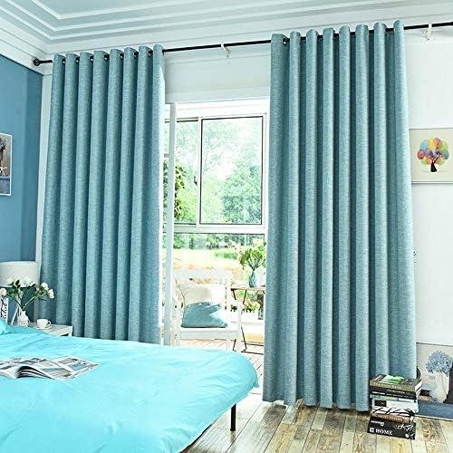 Cortinas de algodón y Lino sombreado salón Dormitorio Cortina Tela ...