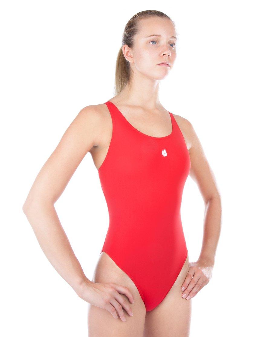LADA Antichlor-Costume da bagno intero, da donna, taglia XS, colore: rosso Mad Wave International M1462 02 3 15W