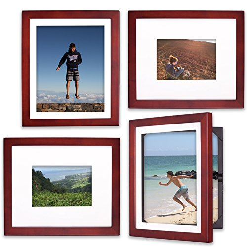 Dynamic Duo - Set of 4 Frames for 8x10 or 5x7 (4, Cherry)