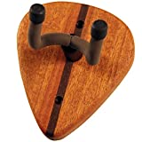 So There Solid Mahogany Wood Pick Design Wall Hanger with String Swing Yoke for Acoustic, Electric and Classical Guitars, Made in USA