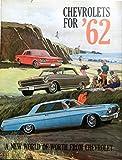 BEAUTIFUL 1962 CHEVROLET DEALERSHIP SALES BROCHURE For Impala, Bel Air, Biscayne, Chevy II (300, 100), Nova 400, Corvair (Monza, 700, 500, Station Wagon, Greenbrier), Corvette - Wagons & Convertibles